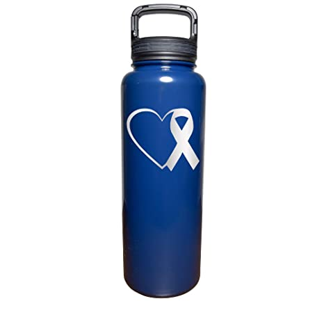 3e8fd01b90b7 Amazon.com: Heart Pink Ribbon Cancer Awareness - Engraved Tumbler ...
