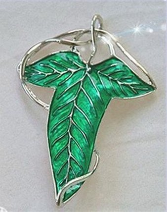 Green Elven Leaf Clasp - Lord of the Rings