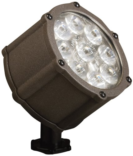 Kichler Lighting 15752AZT LED Accent Light 9-Light Low Voltage 35 Degree Flood Light, Textured Architectural Bronze with Clear Tempered Glass Lens by Kichler Lighting