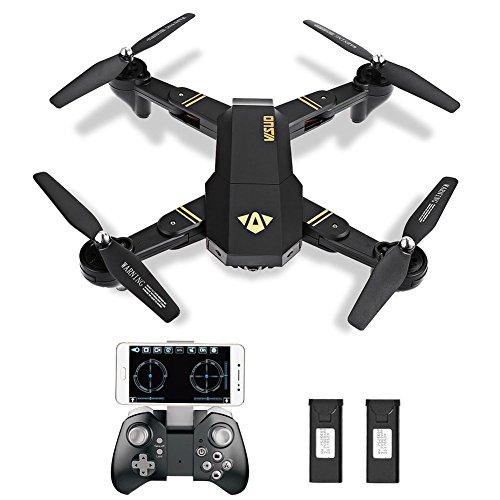 GordVE RC Drone Foldable Flight Path FPV VR Wifi RC Quadcopter 2.4GHz 6-Axis Gyro Remote Control Drone with 720P HD 2MP Camera Drone