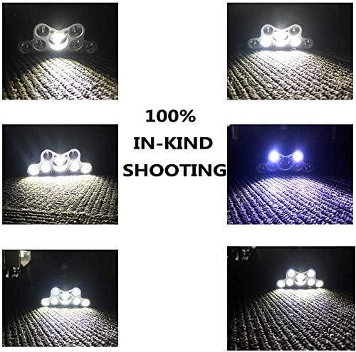 camping y bricolaje Linterna de cabeza 6 modos 10000LM 9LED 90o giratorio recargable impermeable linterna de cabeza de correr casco linterna de cabeza para pesca senderismo
