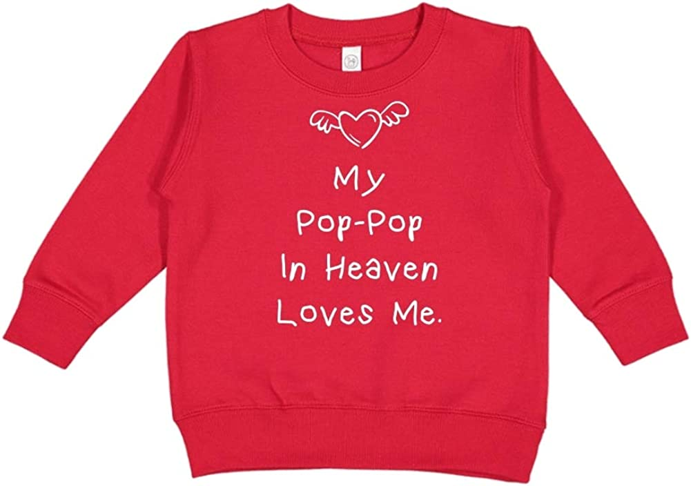 My Pop-Pop in Heaven Loves Me Toddler//Kids Sweatshirt