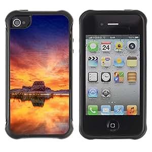 LASTONE PHONE CASE / Suave Silicona Caso Carcasa de Caucho Funda para Apple Iphone 4 / 4S / Sunset Beautiful Nature 35