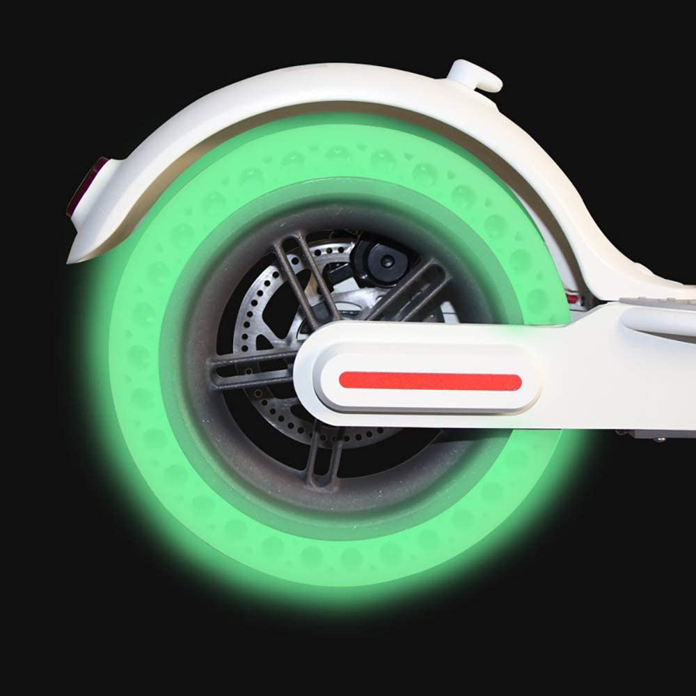 Honeycomb Rubber Solid Tubeless Luminous Solid Replacement Tyre for Xiaomi M365 Electric Scooter 1 pcs TiooDre 8.5 Inch Fluorescent Tire for Xiaomi M365 Electric Scooter