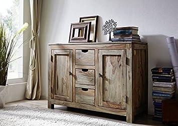 Massivmoebel24de Palisander Massiv Holz Sideboard Sheesham Möbel