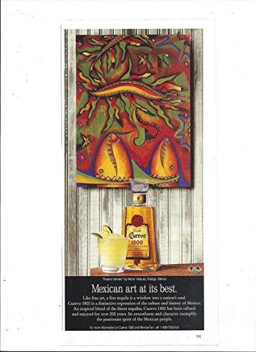 Best Tequila - MAGAZINE ADVERTISEMENT For Cuervo 1800 Tequila Hector Vasquez Art At It's Best