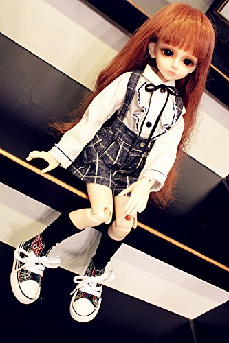 Kuafu 1/3 BJD/SD Doll Clothes New Fashion Girl's School Uniforms Suit Dress Top and Short Pant (only clothes)