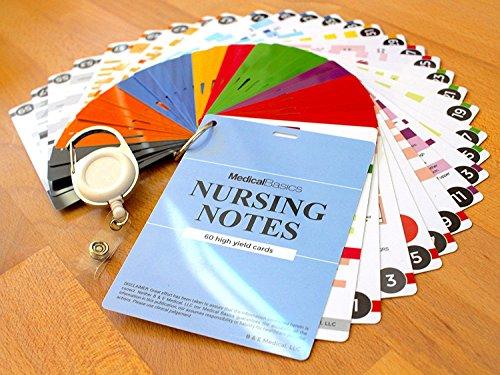 Nursing Notes 60 High Yield Pocket Nursing Reference Cards, Durable Plastic (3.5