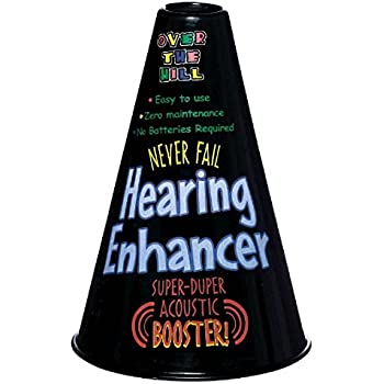 """The Party Continuous Adult Birthday Party Senior Moments Hearing Aid , Black , 8 1/4"""" x 6"""" plastic"""