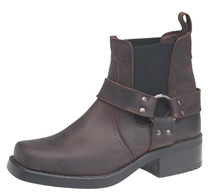 4024ef17b03 Mens Gringos Harley Leather Pull On Western Harness Cowboy Biker Boots  Brown Size 10 UK