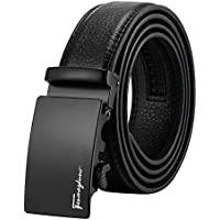 Tiitc Mens Belt Genuine Leather Ratchet Belts for Men Automatic Buckle 1.38'' Wide