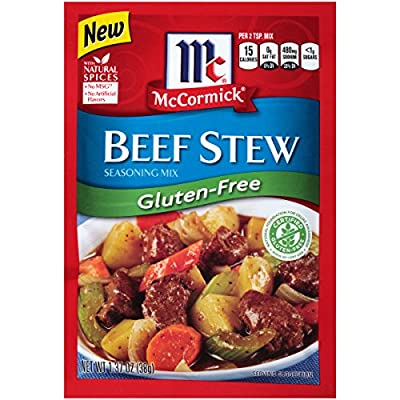 McCormick Gluten Free Beef Stew Seasoning Mix, 1.37 oz (Pack of 12)