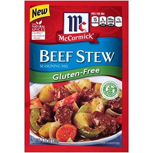 McCormick Gluten Free Beef Stew Seasoning Mix, 1.37 oz (Pack of - Gluten Free Seasonings