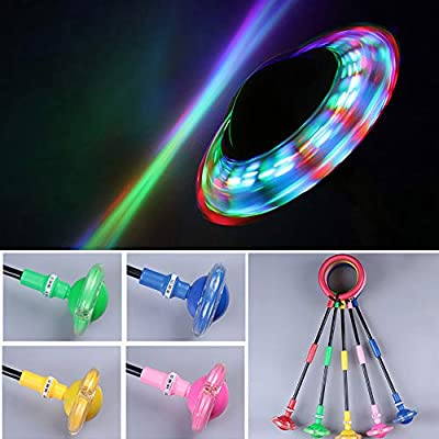 QT19 Skip Ball for Kids Foldable Ankle Skip Ball Flashing Jumping Ring Colorful Sports Swing Ball Fitness Fat Burning Jump Rope Game Toy for Boy and Girl: Sports & Outdoors