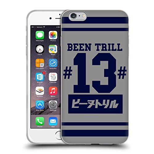 Official Been Trill Blue Stripe Japanese Jersey Soft Gel Case for Apple iPhone 6 Plus / 6s Plus