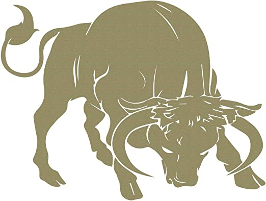 Charging Bull Farm Animals Wall Sticker WS-32774