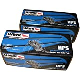 Hawk HB615F.535/HB453F.585 Pair of Front and Rear Brake Pads for 08-13 Mitsubishi Lancer Evolution