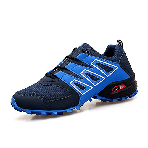 Dannto Men's Hiking Shoes Outdoor Trekking Low-top Climbing Professional Non Slip Breathable Outdoor Trail Running Walking Training Breathable Lightweight Sneakers Blue cKqFIW