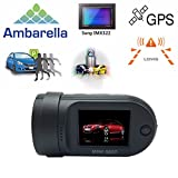 Adashine Mini 0807 Dash Cam with 24Hours Parking Mode Monitor, OBD-II Plug Power Charger, Dual Memory Cards looping Recording, GPS Dash Camera Dashboard Car Dvr Camera(Upgraded Mini 0805 0826)