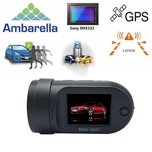 Sign Parking World Series - Adashine Mini 0807 Dash Cam with 24Hours Parking Mode Monitor, OBD-II Plug Power Charger, Dual Memory Cards looping Recording, GPS Dash Camera Dashboard Car Dvr Camera(Upgraded Mini 0805 0826)