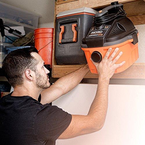 RIDGID Dry VAC4000 Wet Dry Vacuum Includes Horsepower Dry Vacuum Cleaner Dusting Brush, Nozzle, and Nozzle