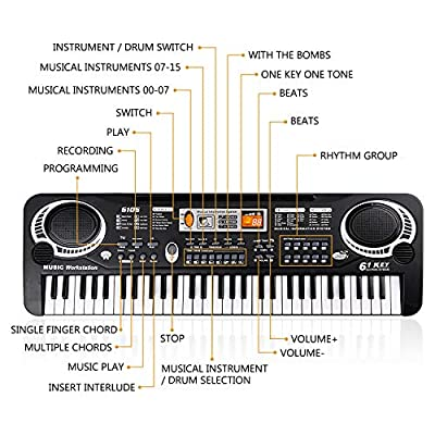 YL L&Y Kid Piano, Upgraded 61-Keyboard Piano Muiti-Function Musical Instruments Educational Toy: Toys & Games