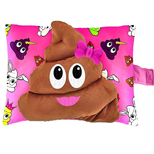 Pillow Pets Smiley's Stinky Face - Poop Stuffed Animal Plush Toy by Pillow Pets