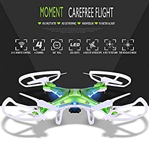Arvin Portable Drone, 360 Degree Rotation Flips Headless Mode with Live Camera Quadcopter LED Lighting for Night Flying 4 Channels Drone by arVin
