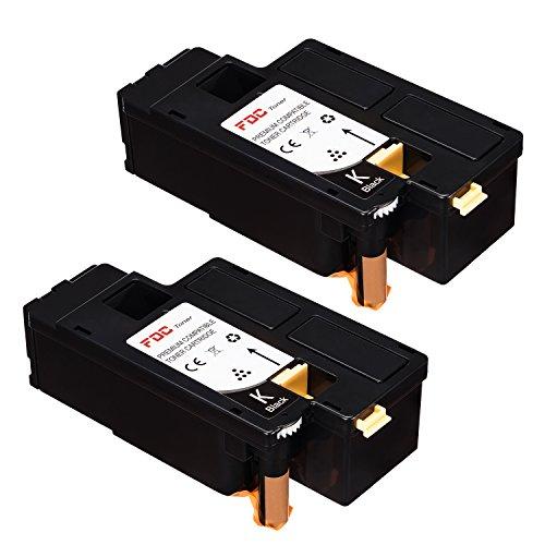 FDC Toner Compatible Dell E525W Printers Toner Cartridges 2- Pack Replacement for Black 593-BBJX, H3M8P, DPV4T