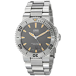 Oris Men's 73376534158MB Aquis Analog Display Swiss Automatic Silver Watch