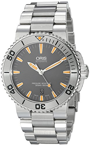 Oris Men's 73376534158MB Aquis Analog Display Swiss Automatic Silver Watch