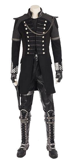ed52540d8e4 Mtxc Men s Final Fantasy XV Cosplay Costume Nyx Ulric Full Set Size  XX-Small Black