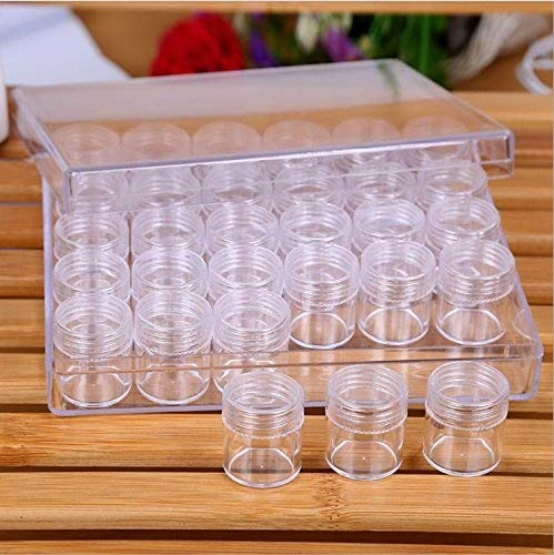 Teemico 1 Set of Transparent Storage Box with 30 Slots for Nail Art Tools Storage Small Parts Beads Jewelry Make up Tools Organizer Container Teemico US