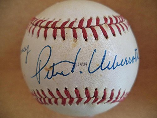 Autographed Peter Ueberroth Baseball - Commissioner 1988 W s Personalized W coa - Autographed Baseballs