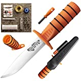 "Cold Steel Survival Edge 5"" Fixed Blade Knife Orange 80PHZ"
