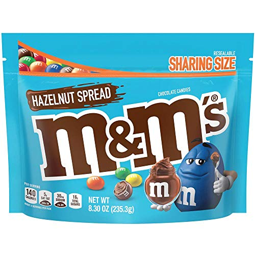 - M&Ms Chocolate Candy Flavor Hazelnut Spread Sharing Size 8.3 Ounce Bag