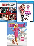 Fun Comedy & Romance Bridget Jones's Diary + Love Actually + Legally Blonde 2 Red White Movies Blu Ray Set Triple Feature Film Bundle
