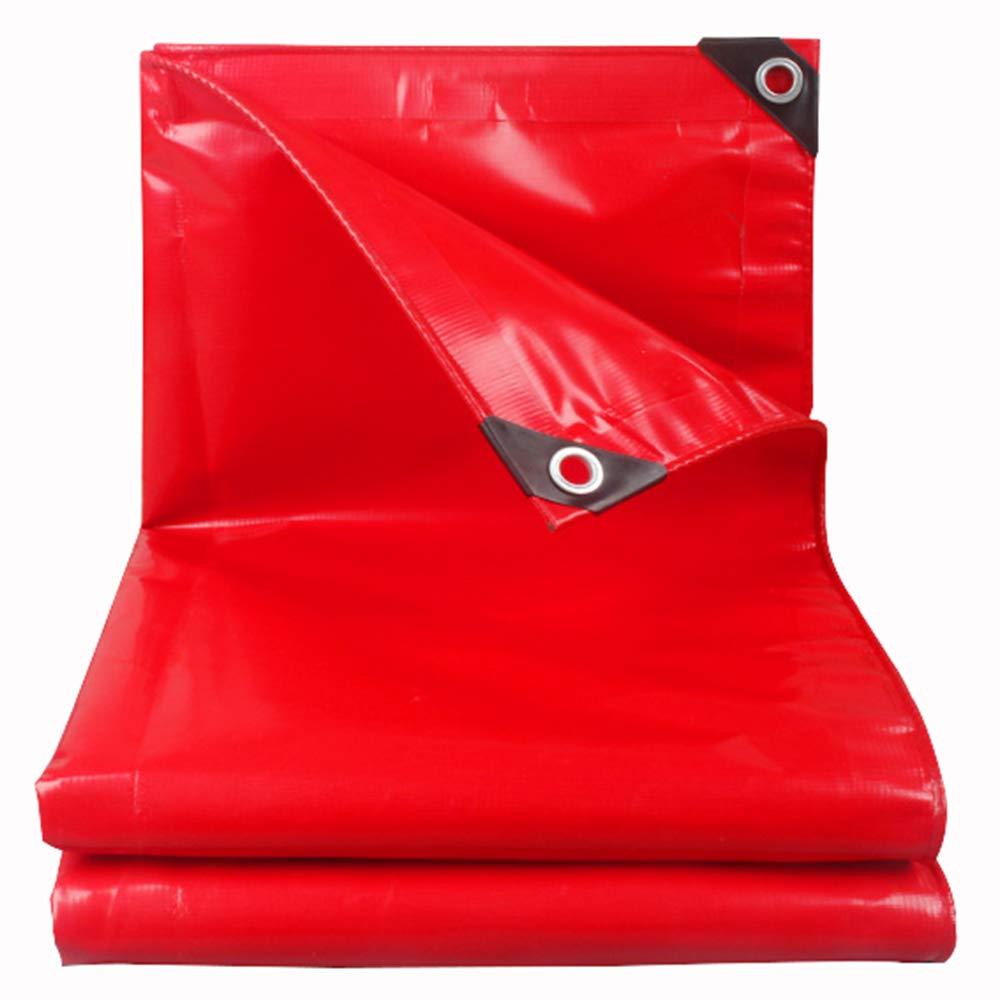 鵬布厚い防水布の雨サンプロテクションターポリンテレスコピックシェッドプッシュターポリン屋外サンシェードオーニング赤 B07HQX8BR3  3m*5m