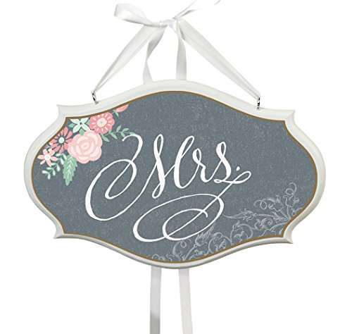 Lillian Rose Mrs. Small Oval Sign, 9.75 x 6.25