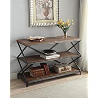 ACME Furniture 80447 Fabio Sofa Table, Oak & Antique Black