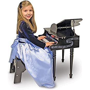 Amazon Com Children Wood Toy Grand Piano With Bench Kids