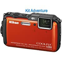 Nikon COOLPIX AW120 Orange Adventurer Kit (International Model)