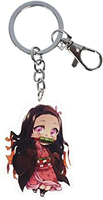 Anime Cosplay Chibi Keychain with Figure for Nezuko Kamado ...