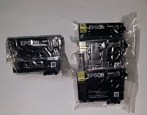Epson DURABrite Ultra T252XL 252XL High Yield Inkjet Cartridge Multipack - 1 Black and 3 Colors
