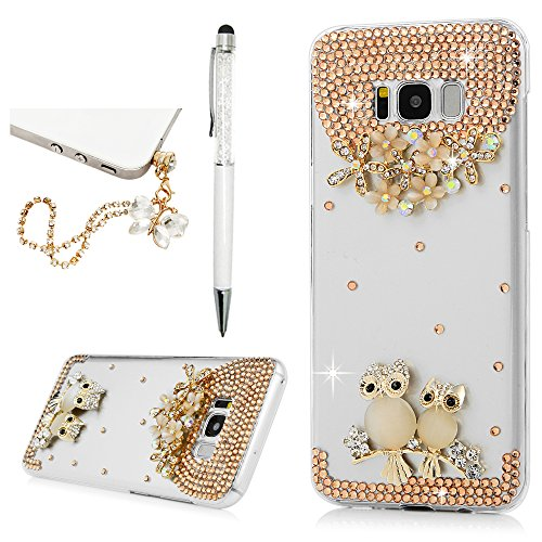 Galaxy S8 Plus Case, YOKIRIN 3D Handmade Fashion Luxury Bling Diamond Rhinestone Crystal Jewelled Gems Hard PC Clear Case Cover for Samsung Galaxy S8 …