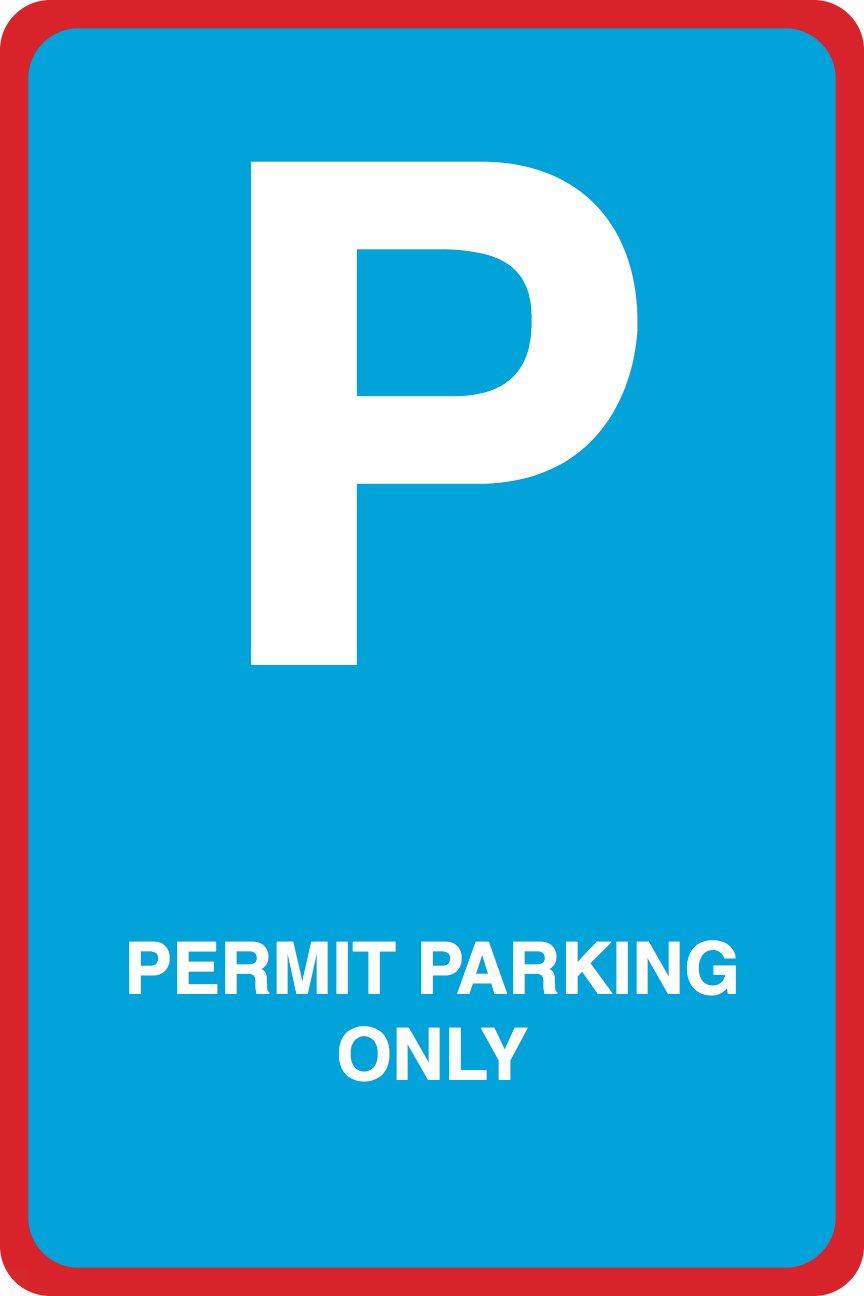 Aluminum Metal Permit Parking Only Print Street Garage Car Lot Office School Business Sign