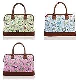 Medium Sized Bowling Handbag in Oilcloth Dogs Pattern
