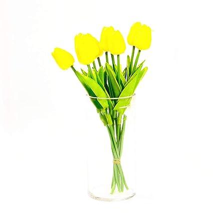 Amazon Coinbuylot 20pcs Pu Artificial Tulips Fake Silk Flower