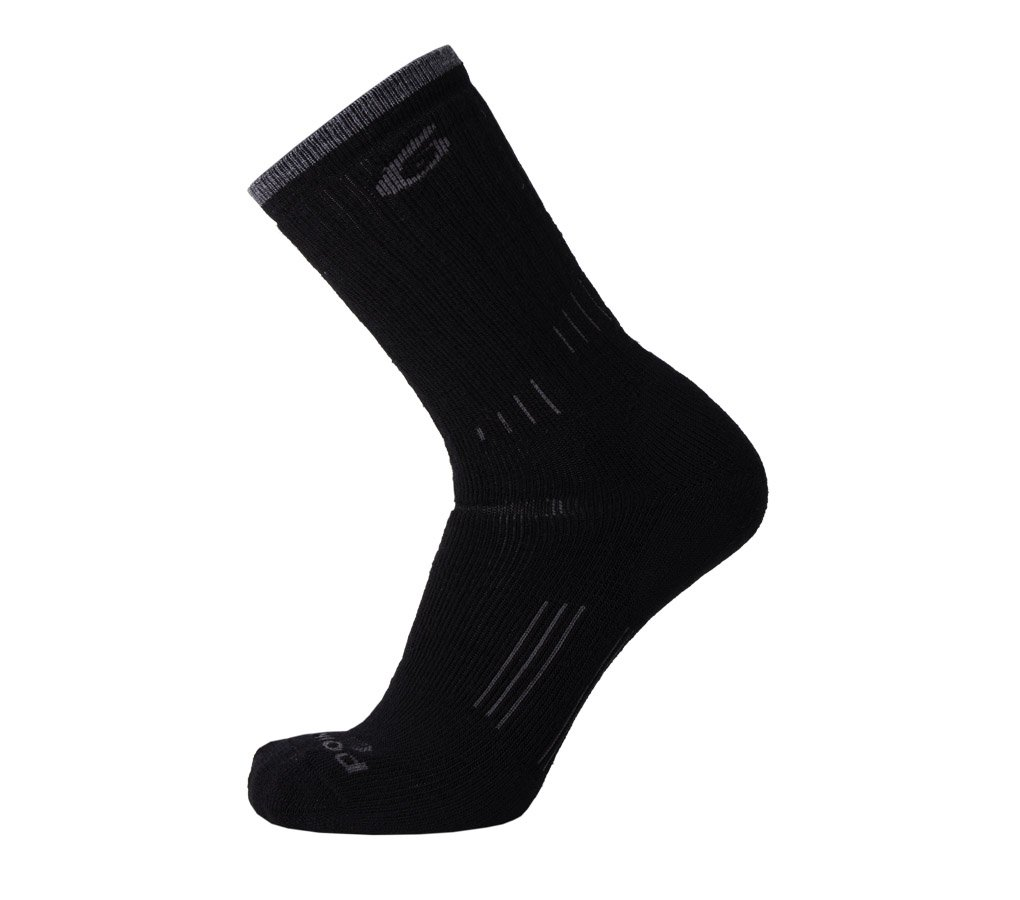 Point6 Hiking Essential Medium Crew Socks, Black, Small by point6