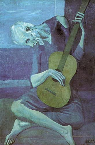 Old Guitarist by Pablo Picasso 36x24 Museum Art Print Poster
